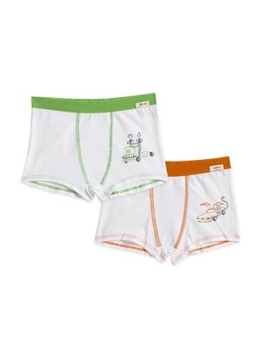 Katia & Bony Machine 2'Li Basic Erkek Çocuk Boxer  Yeşil